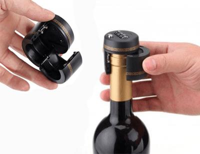 Kodlås för vinflaska