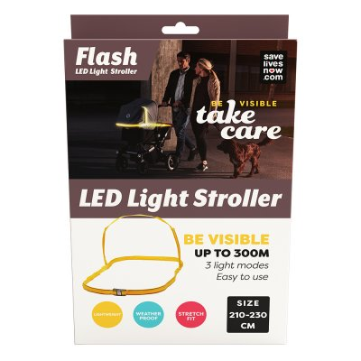 Save Lives Now Flash LED Light Stroller Barnvagn